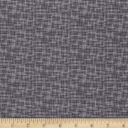 Kaufman Microlife Textures Digital Prints Plaid Grey Fabric