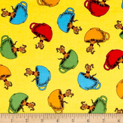 Dr Seuss Hop On Pop Cups Yellow Fabric