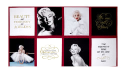 "Kaufman Marilyn Monroe Digital Print Block 23.5"" Panel Lipstick"