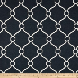 Vera Embroidered Indigo Fabric