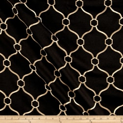 Vera Embroidered Ebony Fabric