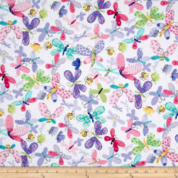Flutter the Butterfly Flutter Flies Allover Lilac Fabric