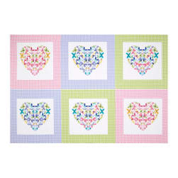 "Flutter the Butterfly Flutter Patch 29"" Panel Lilac"