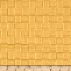 Faux Leather Basketweave Gold Fabric