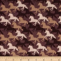 Lewis & Irene Farley Mount Gallop Chocolate Fabric