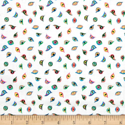 Lewis & Irene Dragons Dragon Eyes Cream Fabric