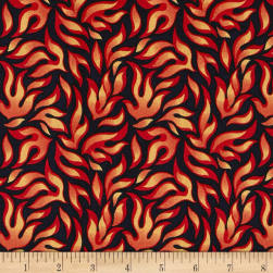 Lewis & Irene Dragons Flames Midnight Fabric