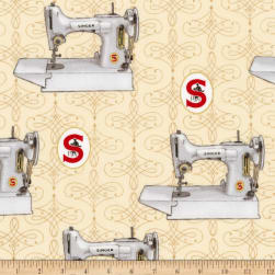 Kaufman Sewing With Singer Metallic Machines Antique Fabric