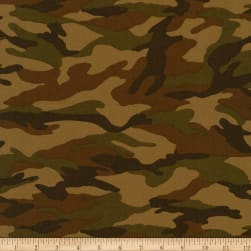 Kaufman Sevenberry Camouflage Camo Earth Fabric