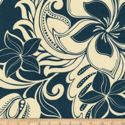 Kaufman Sevenberry Island Paradise Bouquet Navy Fabric