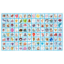 Kaufman Pokemon Digitally Printed Blocks Multi Fabric