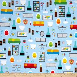 Kaufman Let's Play House Digitally Printed Furniture Blue