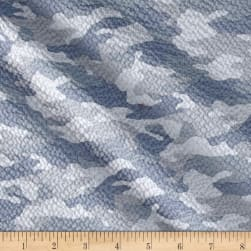 Kaufman Sevenberry Plisse Collection Camo Grey Fabric
