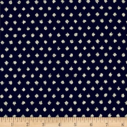 Kaufman Sevenberry Nara Homespun Geo Dot Indigo