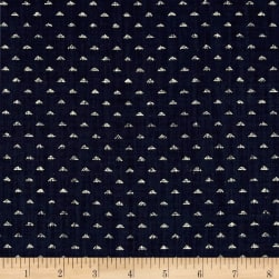 Kaufman Sevenberry Nara Homespun Triangles Indigo Fabric