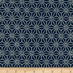 Kaufman Sevenberry Nara Homespun Geo Plaid Indigo Fabric