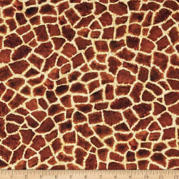 Kaufman Picture This Digital Print Giraffe Skin Wild