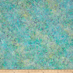 Kaufman Batiks Wavelengths Swirl Cornflower Fabric