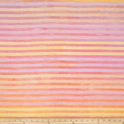 Kaufman Batiks Elementals Stripes Blush Fabric