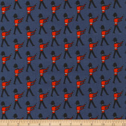 Kaufman Sevenberry Mini Prints Palace Guards Navy Fabric