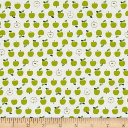 Kaufman Sevenberry Mini Prints Apples Green