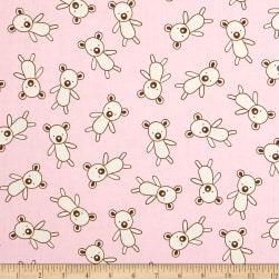 Kaufman Penned Pals Bears Pink Fabric