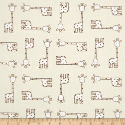 Kaufman Penned Pals Giraffes Tan Fabric