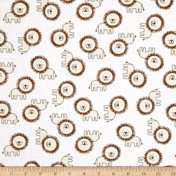 Kaufman Penned Pals Lions Tan Fabric