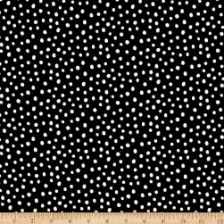 Kaufman Penned Pals Dots Black Fabric