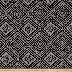 Marquee Abstract Chenille Jacquard Slate Fabric