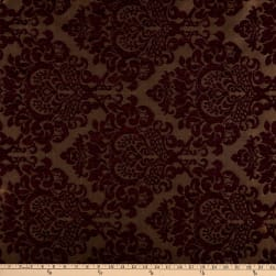 Damask Chenille Jacquard Wine Fabric