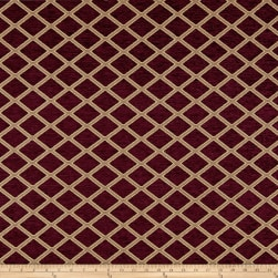 Diamond Chenille Jacquard Wine Fabric