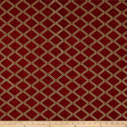 Diamond Chenille Jacquard Ruby Fabric