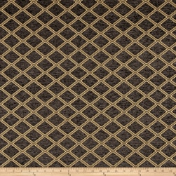 Diamond Chenille Jacquard Charcoal Fabric