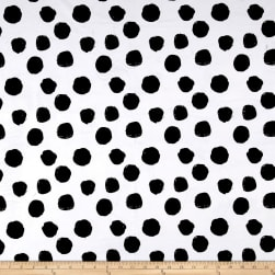 Michael Miller Minky Dots White Fabric