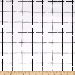 Michael Miller Minky Grid White Fabric