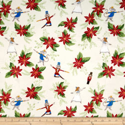 Michael Miller Minky Nutcracker Floral Cream Fabric