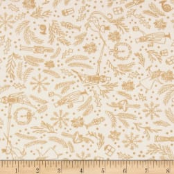 Michael Miller Minky Nutcracker Mini Overture Cream Fabric