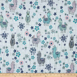 Shannon Embrace Double Gauze La-La-Llama Blush Fabric