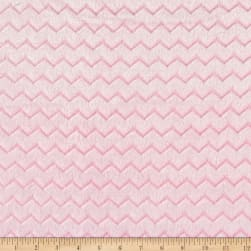 Shannon Minky Embossed Chevie Spa Cuddle Blush Fabric