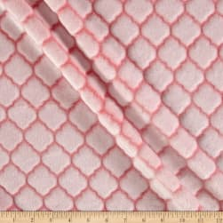 Shannon Minky Embossed Tile Spa Cuddle Coral Fabric