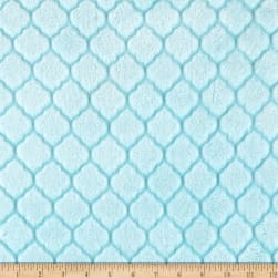 Shannon Minky Embossed Tile Spa Cuddle Saltwater