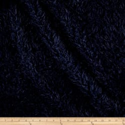 Shannon Minky Luxe Cuddle Llama Navy Fabric