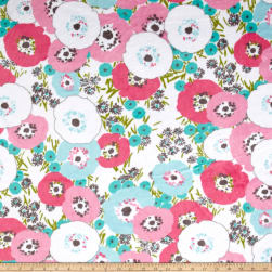 Shannon Studio Minky Cuddle Blossom Hot Pink Fabric