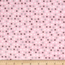 Shannon Minky Cuddle Dottie Dot Blush Fabric