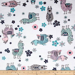 Shannon Studio Minky Cuddle No-Prob Llama Blush Fabric