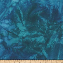 Kaufman Digitally Printed Rayon Lawn Mottle Leaf Ocean