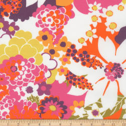 Kaufman Digitally Printed Stretch Poplin Collage Petunia Fabric