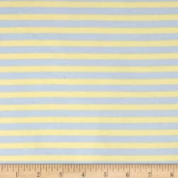 Kaufman Blake Cotton Jersey Knit Stripe Blue Fabric