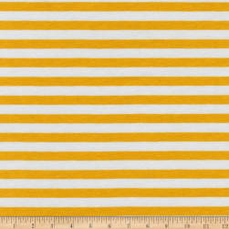 Kaufman Blake Cotton Jersey Knit Stripe Silver Fabric